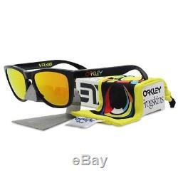 Oakley 24-325 VR46 VALENTINO ROSSI FROGSKINS Black Fire Iridium Mens Sunglasses