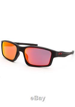 Oakley 9247-11-57 Men's Chainlink Rectangle Black Sunglasses