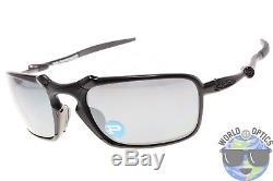 Oakley Badman Sunglasses OO6020-01 Dark Carbon with Black Iridium Polarized Lenses