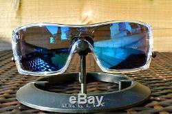 Oakley Batwolf OO 9101-07 Clear/Ice Iridium Men's Shield Sports Sunglasses