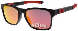Oakley Catalyst Sunglasses OO9272-07 Matte Black Ruby Iridium Lens Ferrari