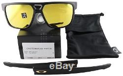 Oakley Crossrange Patch Sunglasses OO9382-0460 Matte Black 24K Iridium Lens