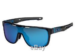 Oakley Crossrange Shield sunglasses Black Prizm Sapphire 9390-0531 Asian fit