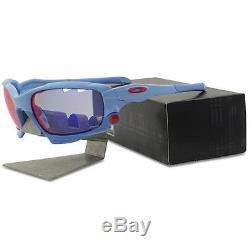 Oakley Custom JAWBONE Pale Blue Positive Red Vented Lens Mens Sport Sunglasses