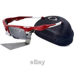 Oakley Custom POLARIZED FAST JACKET XL Team Red Black Iridium Mens Sunglasses
