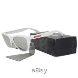 Oakley Custom POLARIZED FROGSKINS OCP White Black Iridium Mens Sunglasses Rare