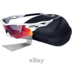 Oakley Custom RADARLOCK PATH VENTED Silver Positive Red Iridium Mens Sunglasses