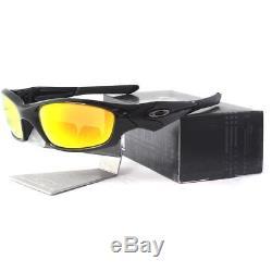 Oakley Custom STRAIGHT JACKET Polished Black Fire Iridium Lens Mens Sunglasses