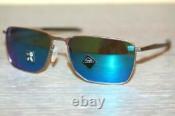 Oakley EJECTOR Sunglasses OO4142-0458 Satin Chrome Frame With PRIZM Sapphire NEW