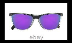 Oakley FROGSKINS 35TH Sunglasses OO9444-0557 Polished Clear With PRIZM Violet Lens