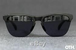 Oakley FROGSKINS LITE Sunglasses OO9374-0163 Matte Black Frame With Grey Lens