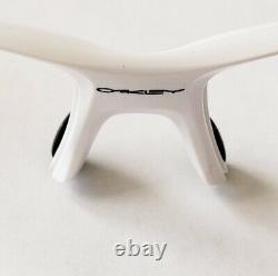 Oakley Flak 2.0 XL Polished White Black Icons Black Socks Frame Only Authentic