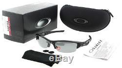Oakley Flak Jacket OO9008 12-900 Men's Black Polarized Wrap-around Sunglasses