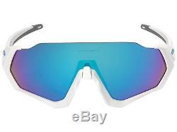 Oakley Flight Jacket Sunglasses OO9401-02 Polished White Prizm Sapphire 9401 02