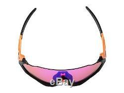 Oakley Flight Jacket Sunglasses OO9401-0437 Neon Orange Prizm Trail Lens 9401 04