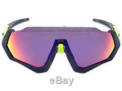 Oakley Flight Jacket Sunglasses OO9401-0537 Matte Navy Prizm Road Lens 9401 05