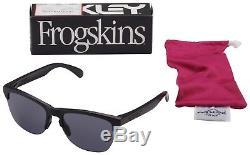 Oakley Frogskins Lite Sunglasses OO9374-0163 Matte Black Grey Lens BNIB