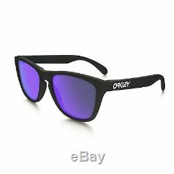 Oakley Frogskins Sunglasses Matte Black / Violet Iridium 55mm
