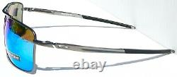 Oakley GAUGE 8 M Matte Gunmetal POLARIZED PRIZM Sapphire Sunglass 4124-06 57