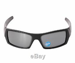 Oakley Gascan 12-856-61 Matte Black Frame Black Iridium Polarized Sunglasses