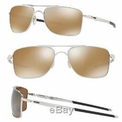 Oakley Gauge 8 M POLARIZED Sunglasses OO4124-05 Chrome With Tungsten Iridium 57MM