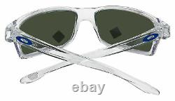 Oakley Gibston Polished Clear Frame Prizm Sapphire Lens Sunglasses 0OO9449