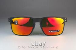 Oakley HOLBROOK METAL Sunglasses OO4123-1255 Matte Black Frame With PRIZM Ruby