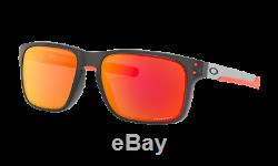 Oakley HOLBROOK MIX Sunglasses OO9384-1557 Matte Grey Smoke With PRIZM Ruby Lens