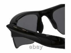 Oakley Half Jacket 2.0 XL Men's Polarized Sunglasses Black Frame Iridium Lens