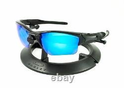 Oakley Half Jacket 2.0 XL Polished Black / Revant Ice Blue Polarized Custom