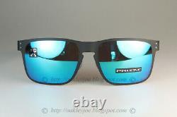 Oakley Holbrook Metal MOTO GP Sunglasses OO4123-10 Matte Black With PRIZM Sapphire