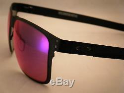 Oakley Holbrook Metal Matte Black w +Red Iridium Lens NEW sunglasses (oo4123-02)