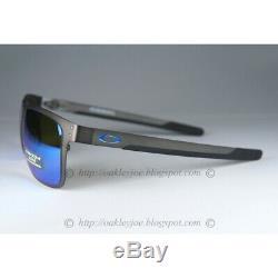 Oakley Holbrook Metal POLARIZED Sunglasses OO4123-0755 Gunmetal WithPRIZM Sapphire