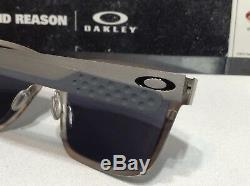 Oakley Holbrook Metal Satin Chrome with Black Iridium SKU# 4123-03 New with Bag