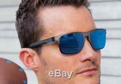 Oakley Holbrook Metal Sunglasses Matte Gunmetal / Prizm Sapphire Polarized