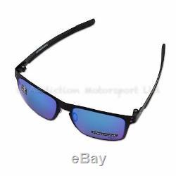 Oakley Holbrook Metal Sunglasses MotoGP Matt Black Prizm Sapphire OO4123-1055