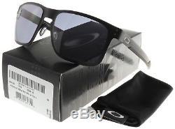 Oakley Holbrook Metal Sunglasses OO4123-0155 Matte Black Grey Lens BNIB