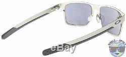 Oakley Holbrook Metal Sunglasses OO4123-0355 Satin Chrome Black Iridium BNIB