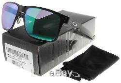 Oakley Holbrook Metal Sunglasses OO4123-0455 Matte Black Jade Iridium BNIB