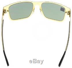 Oakley Holbrook Metal Sunglasses OO4123-0855 Satin Gold Dark Grey Lens BNIB