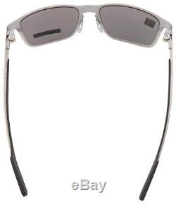 Oakley Holbrook Metal Sunglasses OO4123-0955 Satin Chrome Prizm Black Polarized