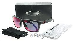 Oakley Holbrook OO9102-36 Matte Black Red Iridium Lens Men's Sunglasses 55mm