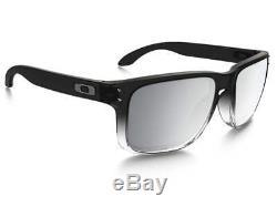 Oakley Holbrook OO9102-A9 Dark Ink Fade Chrome Polarized Lens Sunglasses New
