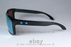 Oakley Holbrook POLARIZED Sunglasses OO9102-C1 Polished Black WithPRIZM Deep Water