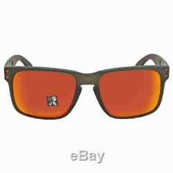 Oakley Holbrook Prizm Ruby Rectangular Men's Sunglasses OO9102 9102E7 55