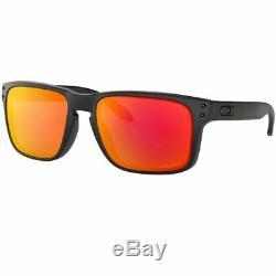 Oakley Holbrook Sunglasses Matte Black withPrizm Ruby Lens Men OO9102 E255