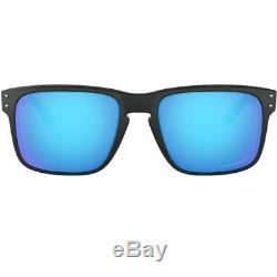 Oakley Holbrook Sunglasses Matte Black withPrizm Sapphire Lens Men OO9102 F055