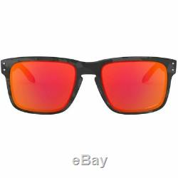 Oakley Holbrook Sunglasses Men Black Camo withPrizm Ruby Lens OO9102 E955