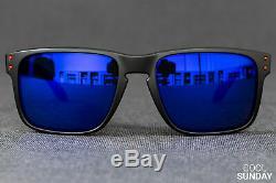 Oakley Holbrook Sunglasses OO9102-36 Matte Black With Positive Red Iridium 57MM