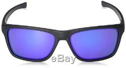 Oakley Holston OO9334-09 Sunglasses Matte Black Violet Iridium Lens 9334 09
